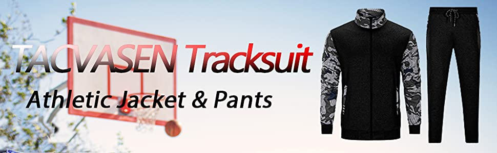 Men's Tracksuit Athletic Full Zip Casual Long Sleeve Jacket and Pants 2 Piece Set Running Jogging