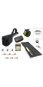 """wild water fly fishing, 5'6""""' 3 fly fishing package, 3 wt rod, 3 weight rod, 5'6"""" rod"""
