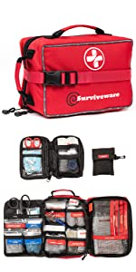 Surviveware Large First Aid Kit for Trucks and Cars