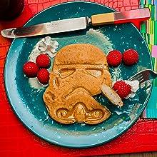Uncanny Brands Stormtrooper Waffle Maker Breakfast