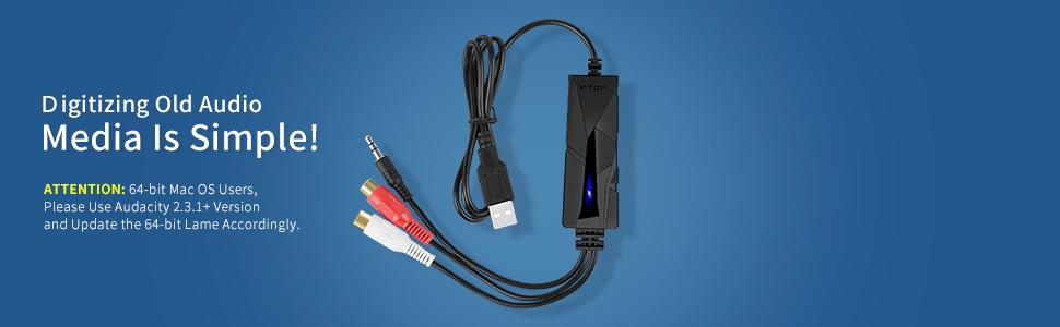 usb audio grabber vhs analogico digititale vhs video capture scheda di acquisizione video usb