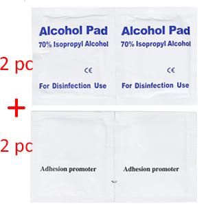 come with 2 pcs Alcohol pad amp; 2 pcs promoter