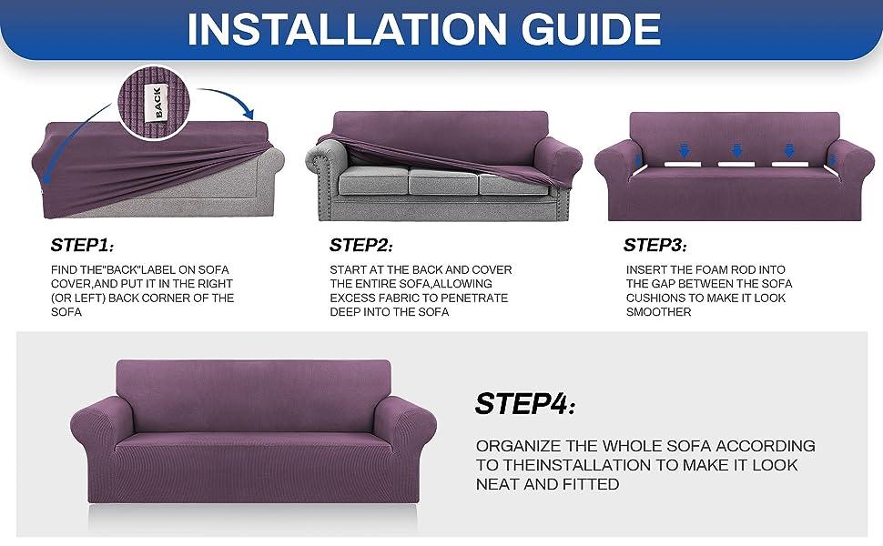 Dark Purple sofa cover L/XL/XXL A+6