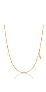 golden letter A choker necklace