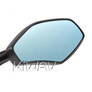 Blue tinted convex mirror lens