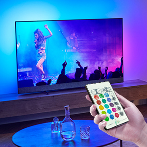 luces led tv