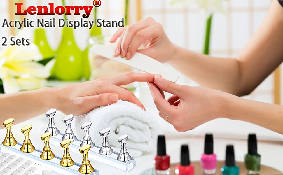 LenLorry acrylic nail display stand