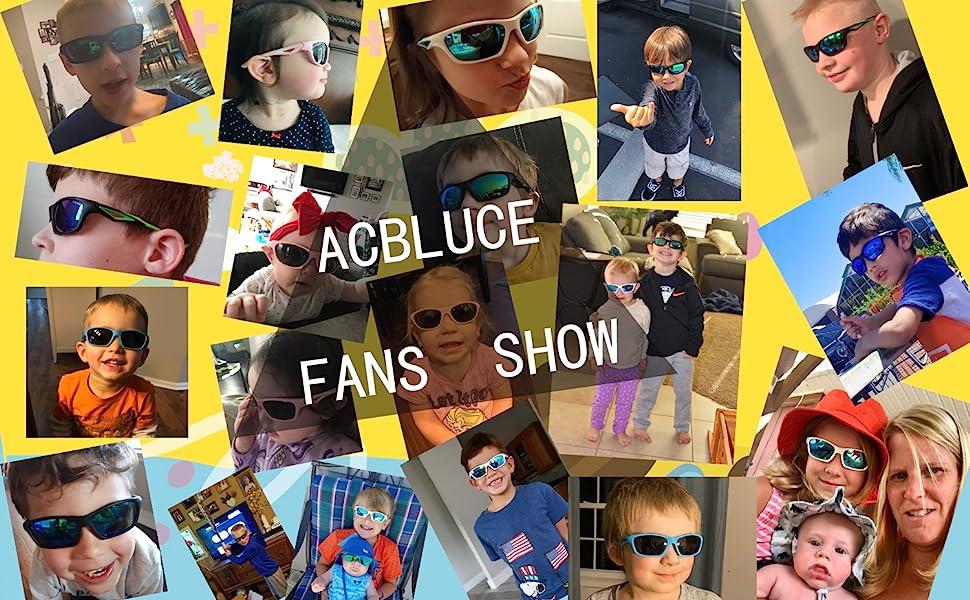 Utini Kaleidoscope Glasses Polarized Kids Sunglasses Clip Boys Girls Cute Sun Glasses Lens Clip on Myopia Glasses for Children UV400 Lenses Color: C1 Fish Orange, Frame Color: as Picture