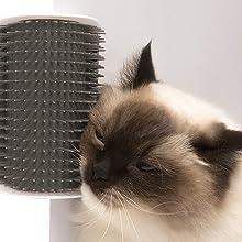 cat self massage comb