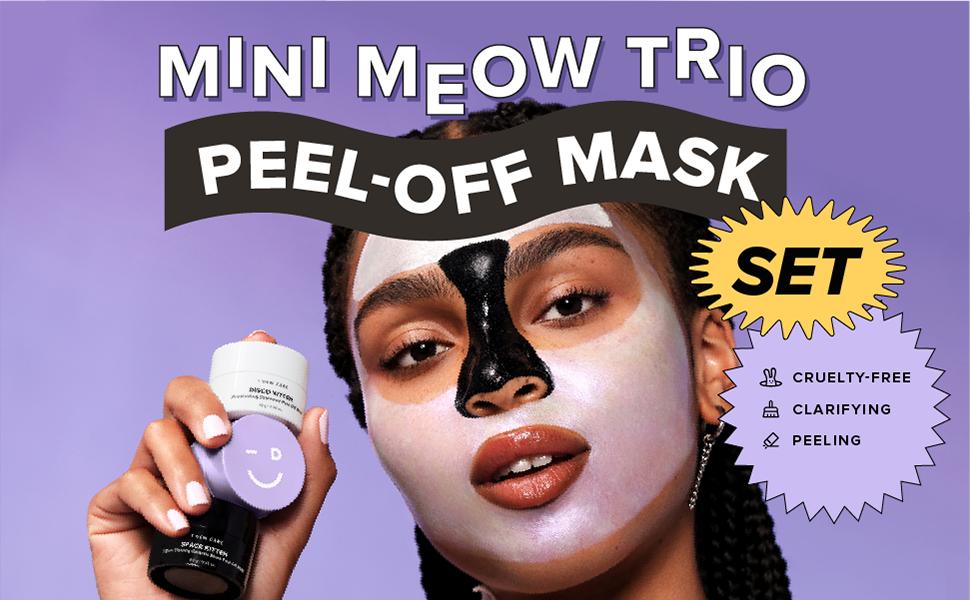 i dew care, mini meow trio, peel off mask