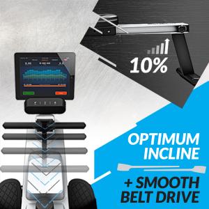 Optimum 10° Incline + Smooth Belt Drive
