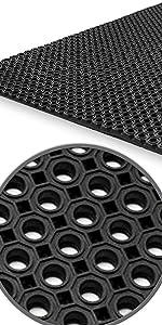 Aislamiento T/érmico y Ac/ústico 3mm 100x200 cm Suelo de Goma Antideslizante etm Rollos Caucho para Suelo Alfombras de Caucho Resistentes Acanalado Fino Gris