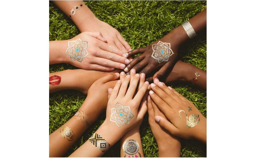 GirlZone Regalos para Niñas - Tatuajes Niñas - Pack de 65 Tatuajes ...