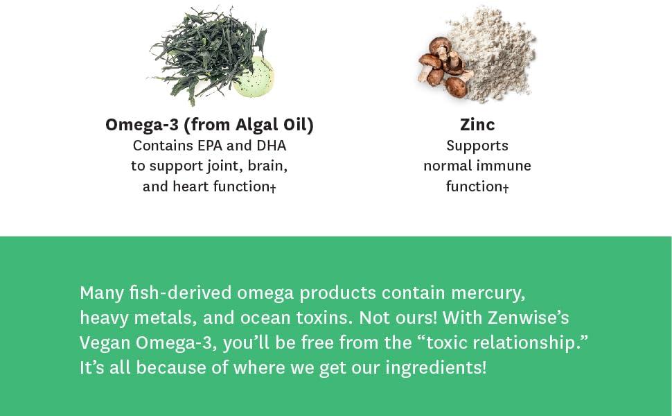 Algal Oil, Zinc, Omega-3