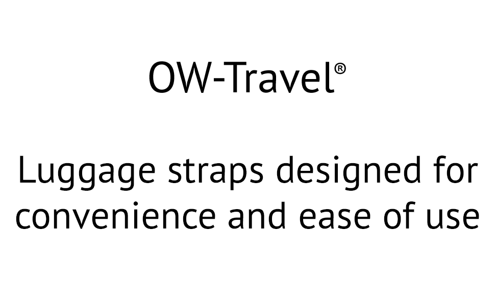 OW Travel personalised luggage with luggage tag labels designed for convenience and ease of use