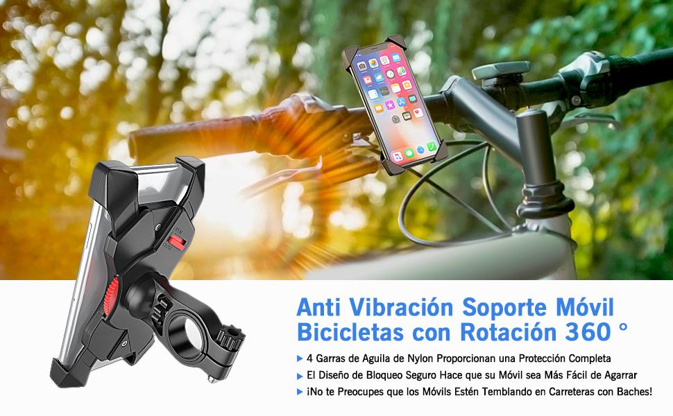 Bovon Soporte Movil Bicicleta, Anti Vibración Soporte Movil Bici ...