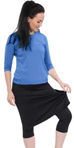 kosher casual 1914 medium weight opaque skort swim running skirt leggings modest apostolic hijabi