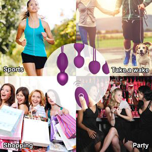 Kegel Balls for Women Tightening & Beginners - Purple Ben Wa Balls Kits Kegel Exercise Weights
