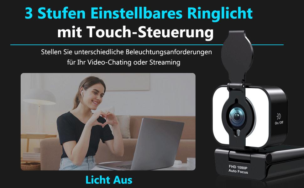 webcam mit ringlicht