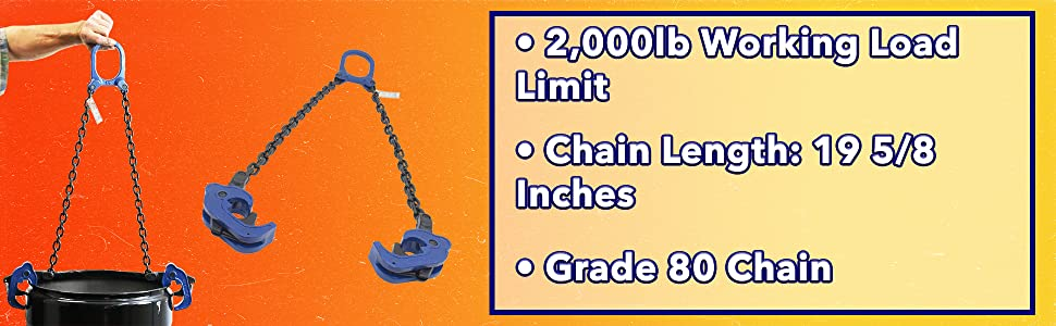 Vertical Drum Lifter, Drum Lifter, Drum Lifter Chain
