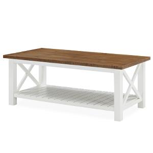 Amazon.com: FurniChoi Farmhouse Coffee Table, Wood Rustic