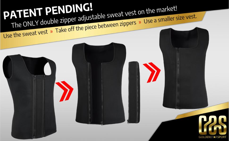 Patent pending 2 in 1 men waist trainer vest and sweat vest for men neoprene sauna vest for men