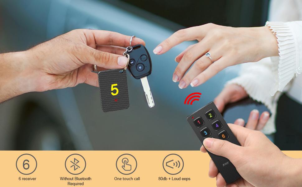 Key Finders Make-Noise Item RF-Locator : Pet Finder Remote Tracker