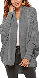 Cardigan Donna Giacca Maglione Donna Lunghe Maniche Pipistrello Inverno Autunno Sweater