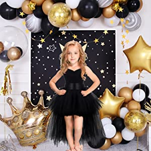 birthday girl outfit,black dress for girls