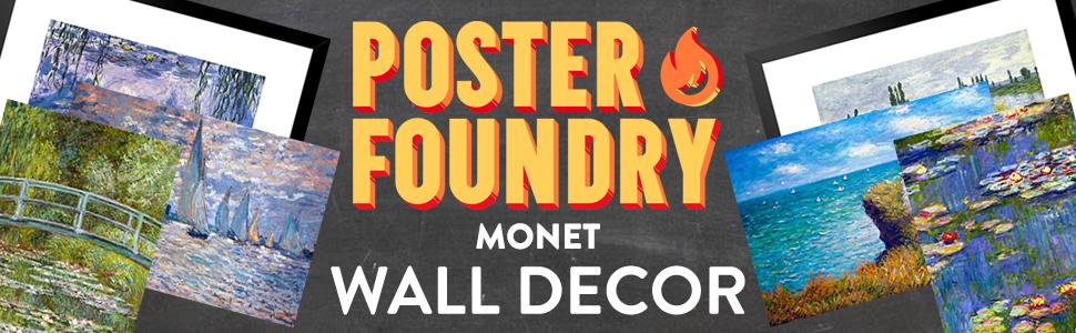 monet, claude monet, impressionism, canvas, wall decor, framed print, framed, frame, poster, posters