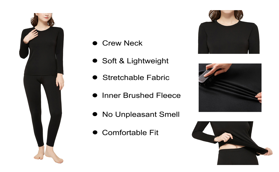 Women's ultra soft thermal underwear