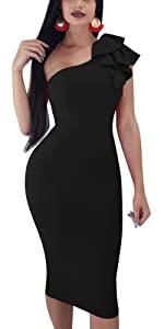 Sexy Pencil Tank Sleeveless Bodycon Midi Club Dress
