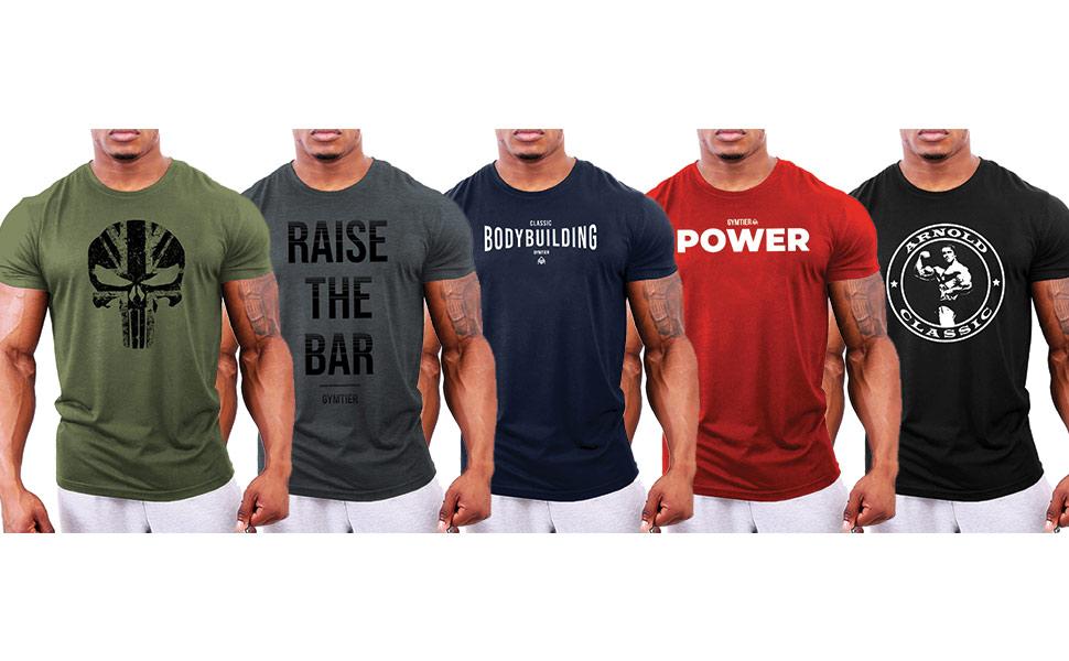 mens bodybuilding gym t-shirt