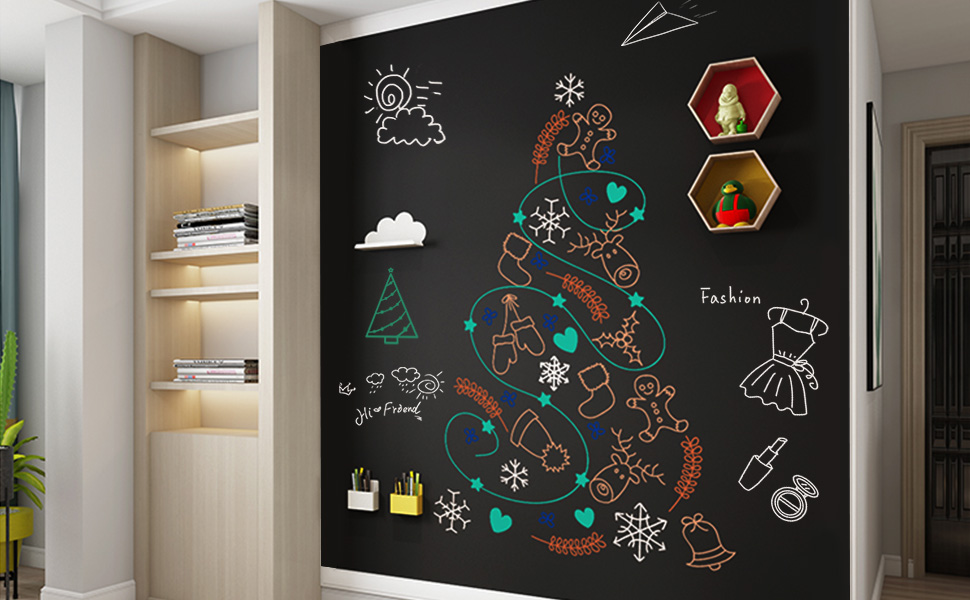 ZHIDIAN NON-ADHESIVE BACKING CHALKBOARD STICKER FOR WALL REUSABLE