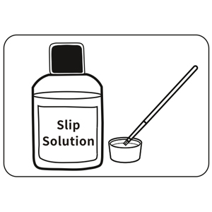 use slip solution to make it eazy