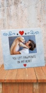 paw prints on my heart frame picture