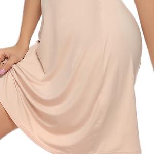 Vlazom Women's Nightdresses Soft Full Slip