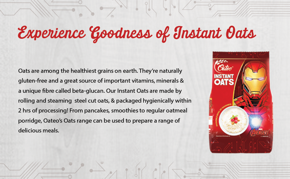 Experience goodness of instant oats