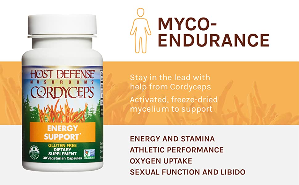 MYCO-ENDURANCE Stay in the lead with help from Cordyceps Activated, freeze-dried mycelium