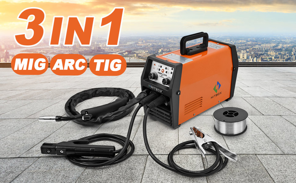 no gas mig120 with lift tig arc 3 in 1 digital welding machine