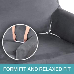 velvet plush sofa cover for living room