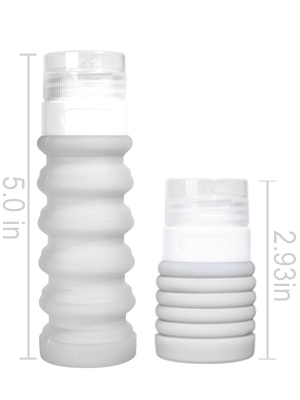 Leakproof Silicone Travel Bottles TSA Airline Carry-On