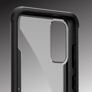 defense shield x-doria clear polycarbonate back transparent clear raised lip bezel front protection