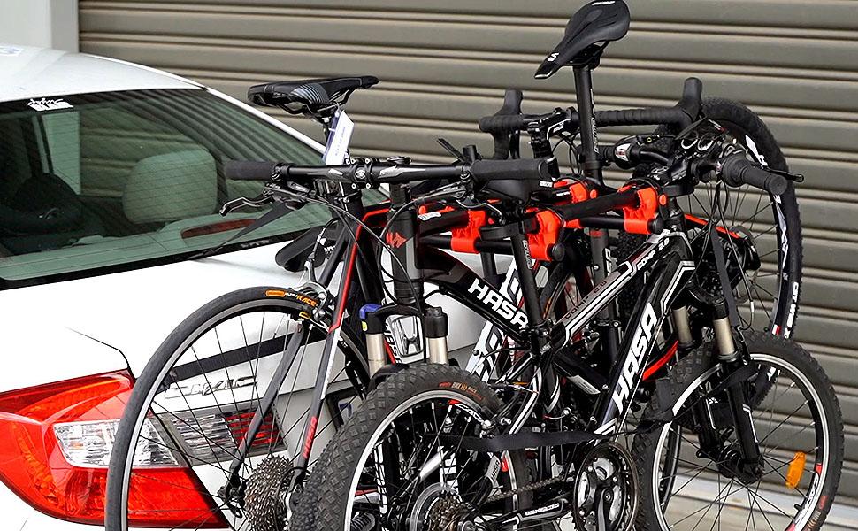 Venzo 3 Bike Car Universal Carrier Rack Bicycle Rear Racks