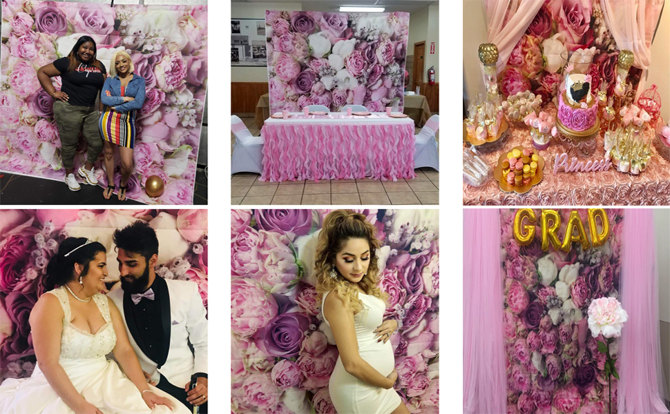 8x8FT Vinyl Wall Photography Backdrop,Moroccan,Artful Bohemian Flora Background for Baby Shower Bridal Wedding Studio Photography Pictures