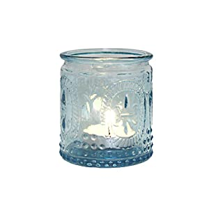Tealight Glass Chic Antique Metal Rose Shabby Vintage Nostalgia Tealight Holder