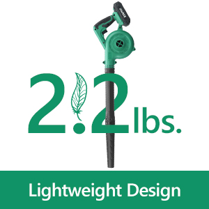 kimo lightweight cordless leaf blower and sweeper