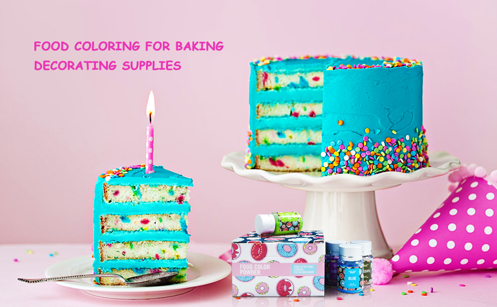 food coloring for cake decoration