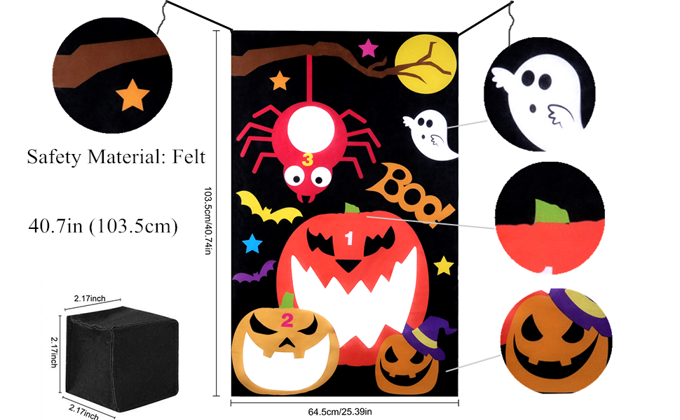 The Halloween Toss Games for Adults and Kids.