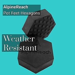 AlpineReach Pot Feet Hexagons Weather Resistant